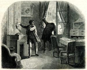 Ilustración editorial de novela negra
