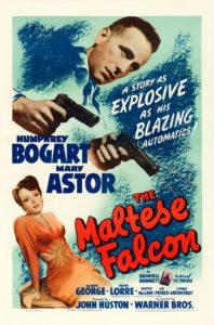 Cartel de cine de El halcón maltés
